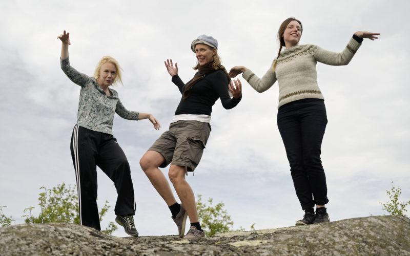 Chorus sinensis working group; Karoliina Lummaa, Ulla Taipale and Lau Nau, photo taken by the fourth member, Jan Eerala.